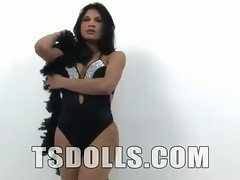 Many Latina shemales have big asses and this chick is no exception. She's smoking hot and sh...
