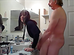 Kinky going on in the Boss' Bathroom.