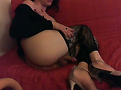 shemale tranny anal love with my fantasy boyfriend in hells and pantyhose