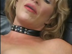 The two subs are happily cross dressed for their mistress. They love that she abuses their c...