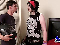 Rebeka Refuse lures a biker back home that gives her a ride into bed! Loud and verbal she lo...