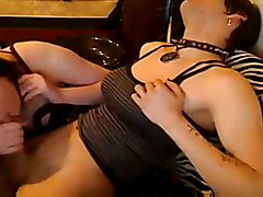 young goth shemale sucked by a girl on cam
