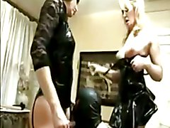 british crossdreser fetish orgy, pvc latex toys & a gimp xx