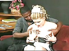 Skinny maid interracial