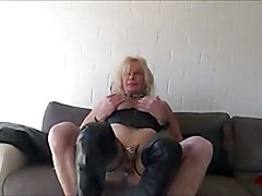 sissy in chastity swallow cum