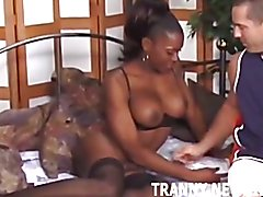 It took you a long time to accept the fact that this ebony babe had a huge cock, but you soo...
