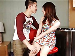 Ladyboy makes out with her boyfriend