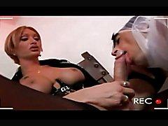 Classic scene,Mariana reams and feeds freaky slave.