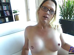 mature blond TS Jenna Ranee is brand new to porn and did her first hardcore with me and then...