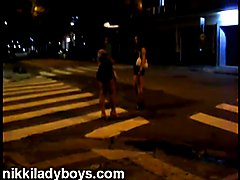 Nikki Ladyboys is a pimp, street video with one of her street tranny prostitutes
