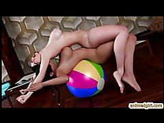 3D swimsuit futanari hot fucked on the gym ball tube presents by animedgirl.com Go to w...