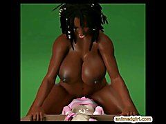 Busty futanari 3D interracial bondage tube presents by animedgirl.com
