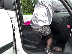 see me classic lady in seamed stocking garter belt cleaning car MY LIFE IS SEXY!