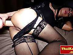 Ladyboy pov assfucked after anal playing with her favorite dildo