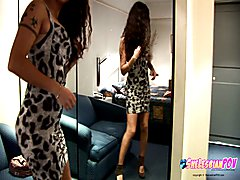 Just getting ready to fuck another shelesbian POV style and wanted to share my dress with you.