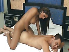 Sexy and Wild Shemale Get Bareback by a Huge Cock tight ass shemale hoe gets fucked. Wild an...
