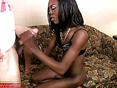Sexy slim and black Bianca showed up at the room one evening for an ebony tranny boning. She...
