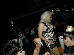 Nipples and upskirt Balls on a Transsexuals Public Party