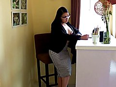 Asian Shemale TS Filipina at the office, She was very horny and end up touching herself and ...