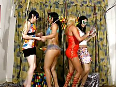 There is just no stopping these four trannies when they get together and they are all in the...