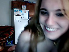 Femboy teen makes hot naked live cam and shows off her small TS she cock