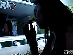 This smoking hot shemale loves giving anal pleasure to this lucky guy before she cums all ov...
