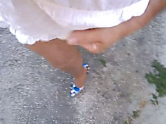 Blue Stilettos Outdoor Exhib