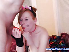 A cute and playful tranny gets kinky and playful with two men. The cute tranny shows her tig...