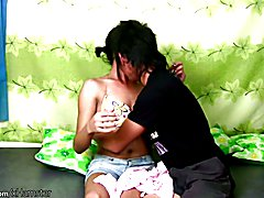 New model Marnel gets it on with Richard who if you prefer ladyboys has a better body and la...
