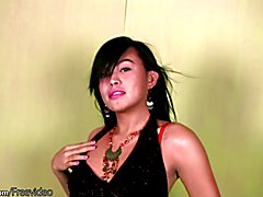 This Asian ladyboy has such a sweet smile and eyes so completely tempting. She loves being o...
