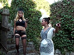 A lucky Camilla Jolie's fan meets the super hot Driely Riuston wearing lovely white lingerie...