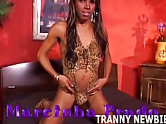 I am going to fuck you so hard with my black tranny cock