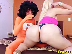 Bubblebutt bigass latin tgirl creamed on asshole