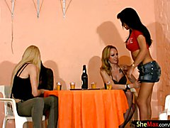 Nicolly, Alessandra, Laviny and Isabelly are four horny shemales that love getting together ...