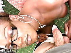 Cookie is a glasses wearing ebony t-girl that loves getting naughty and peculiar. She strips...
