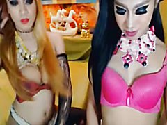 Watch this horny shemale fucks her shemale friend in a pleasure. Flaunting their ass and coc...