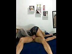 Hidden Camera Ass Nailed Faggot by a Hung big booty Transexual girl