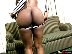 This horny black tranny had just spent a long evening of shopping at the mall. We had seen h...