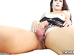 Cute Tranny Priscila Andrade Plays With A Toy