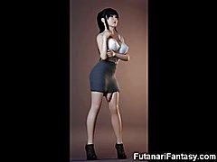 3D Big Dicked Futanari Lesbians!