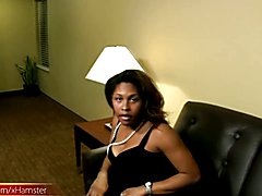 This ample bodied black shebabe was a sexy piece of lust on high heels. Her sexy tiny black ...