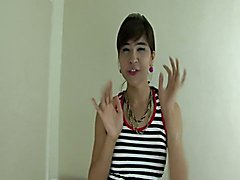 Ladyboy playing with herself - clip # 02