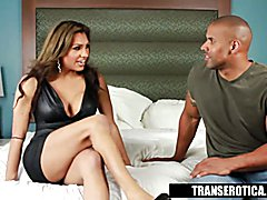 Jessy Dubia Takes the Black Dick in this hot Interracial t-girl scene