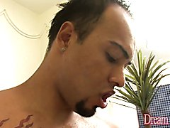 Horny tranny gives a nice blowjob She gets her tits sucked and asshole fingered before getti...