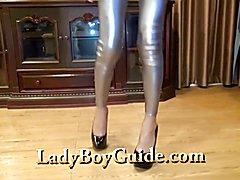 Thailand Silver Panties On Ravishing Tranny - clip # 02