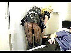 Blonde Tgirl Fuck