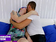 Alt trans babe pounded after getting rimmed by this lucky guy