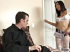 Shemale Vivian Rockwell is ready to get fucked by Chad Diamond