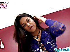 Stunning nubian shemale with amazing body solo jerking off