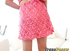 We have with us the young & beautiful Erika Santiago. This gorgeous transsexual is hot,shy a...